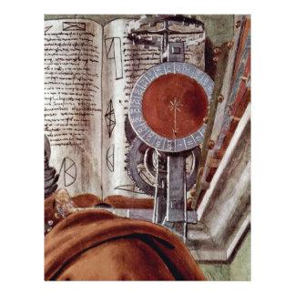 St Augustine en detalle contemplativo del rezo Tarjetas Publicitarias