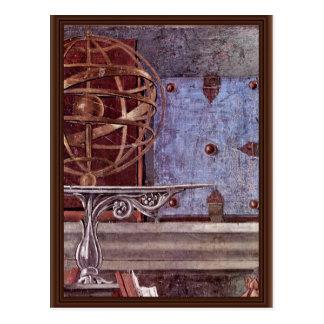 St Augustine en detalle contemplativo del rezo Tarjetas Postales