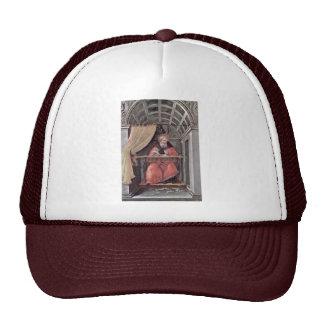 St Augustine en retratamiento de Botticelli Sandro Gorro