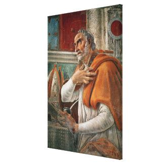 St Augustine en su célula, c.1480 Lona Estirada Galerias