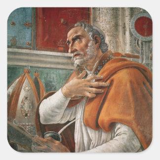 St Augustine en su célula, c.1480 Pegatina Cuadrada