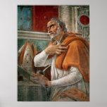 St Augustine en su célula, c.1480 Póster
