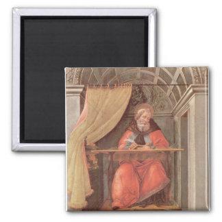 St Augustine en su célula Imán Cuadrado