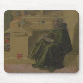 St Augustine en su estudio (predela del Barbad Alfombrillas De Ratón