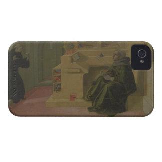 St Augustine en su estudio (predela del Barbad iPhone 4 Case-Mate Carcasas