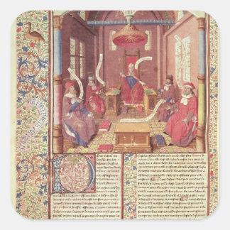 St. Augustine, Epicurus, Zeno, Antiochus & Square Stickers