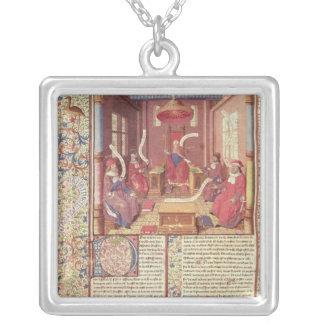 St Augustine, Epicurus, Zeno, Antiochus y Colgante Cuadrado
