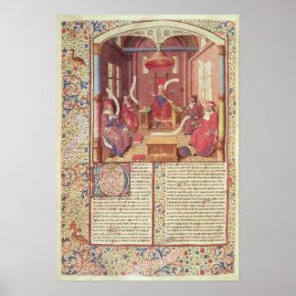 St Augustine, Epicurus, Zeno, Antiochus y Póster