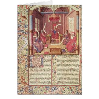 St Augustine, Epicurus, Zeno, Antiochus y Tarjeta De Felicitación