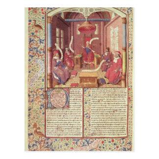 St Augustine, Epicurus, Zeno, Antiochus y Tarjeta Postal