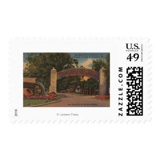 St. Augustine, FL - Fountain of Youth Entrance Postage Stamp