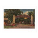 St Augustine, FL - fuente de la entrada de la Tarjeta Postal