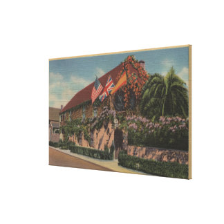 St. Augustine, FL - View of St. Francis Gallery Wrap Canvas