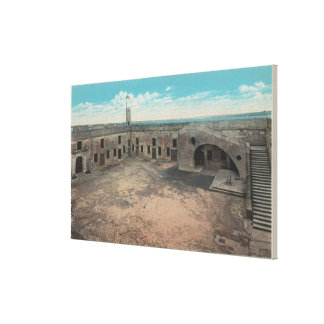 St. Augustine, Florida - Bird's Eye of Ft. Mario Stretched Canvas Print