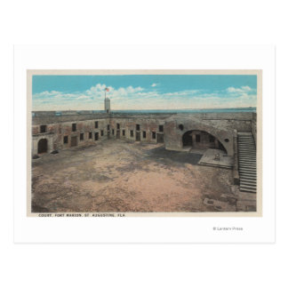 St. Augustine, Florida - Bird's Eye of Ft. Mario Postcard