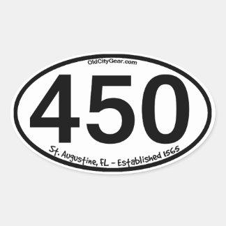 St. Augustine, Florida - Established 1565 - 450th Oval Sticker