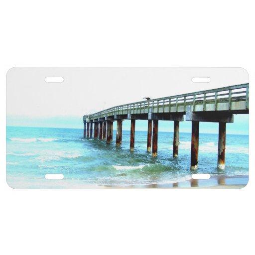 St augustine florida fishing pier photograph license plate for Washington dc fishing license