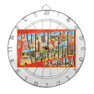 St Augustine Florida FL Vintage Travel Souvenir Dartboard