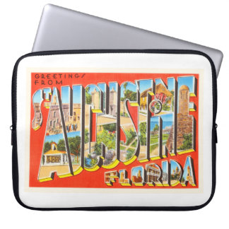 St Augustine Florida FL Vintage Travel Souvenir Laptop Sleeve
