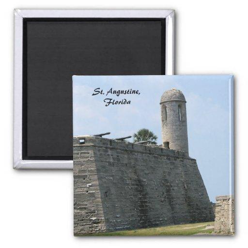 St. Augustine Florida fort castillo de san marcos 2 Inch Square Magnet