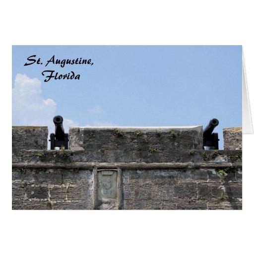 St. Augustine Florida fort castillo de san marcos Card