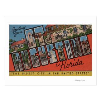 St. Augustine, Florida - Large Letter Scenes 2 Postcard