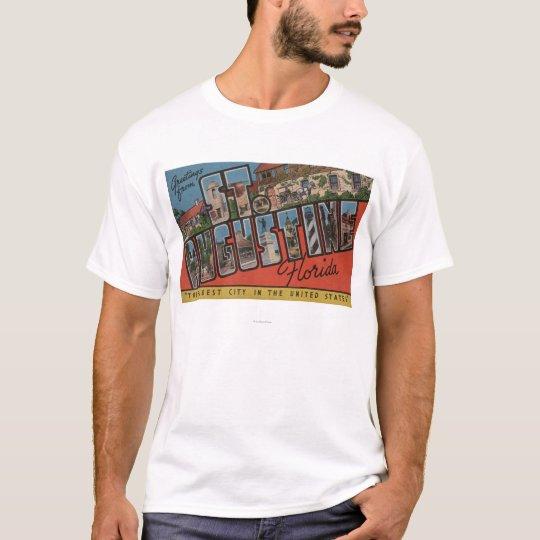 St. Augustine, Florida - Large Letter Scenes 2 T-Shirt