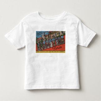 St. Augustine, Florida - Large Letter Scenes 2 Toddler T-shirt