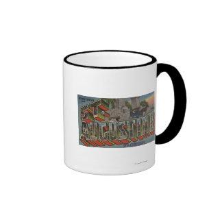St. Augustine, Florida - Large Letter Scenes Ringer Mug