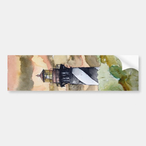 St Augustine Florida lighthouse painting Bumper Sticker