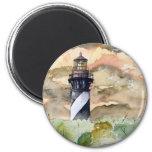 St Augustine Florida lighthouse painting Fridge Magnet