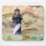 St Augustine Florida lighthouse painting Mouse Pad