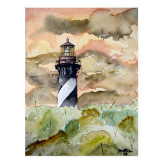St Augustine Florida lighthouse painting Postcard