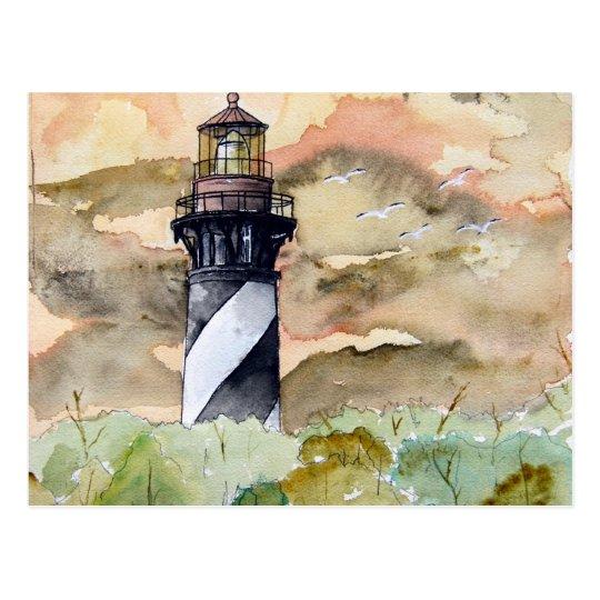 St Augustine Florida lighthouse painting Postcard