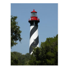 St. Augustine Florida Lighthouse Postcard at Zazzle