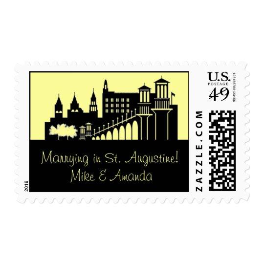 St. Augustine, Florida Skyline Postage Stamp