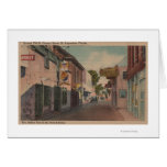 St. Augustine, Florida - View of St. George St. 2 Greeting Cards