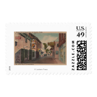 St. Augustine, Florida - View of St. George St. 2 Postage