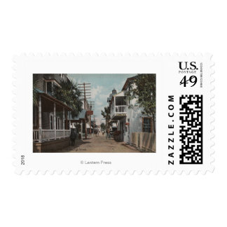 St. Augustine, Florida - View of St. George St. Postage