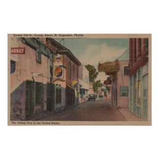 St Augustine Florida - View of St George St Print