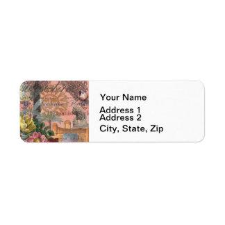 St. Augustine Florida Vintage Collage Return Address Label