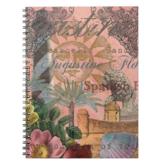 St. Augustine Florida Vintage Collage Notebook