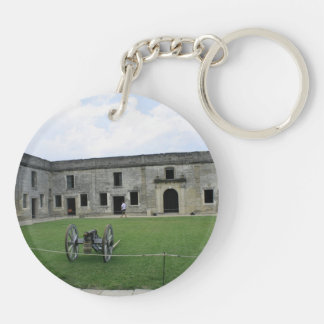 St Augustine Fort Castillo de San Marcos II Double-Sided Round Acrylic Keychain