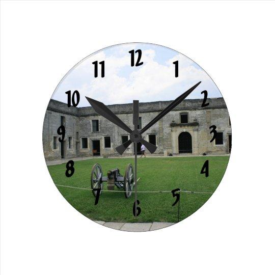 St Augustine Fort Castillo de San Marcos II Round Clock