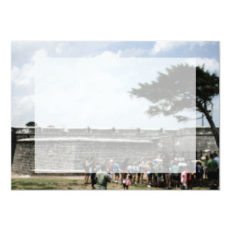 St. Augustine Fort Crowd Grainy 5x7 Paper Invitation Card