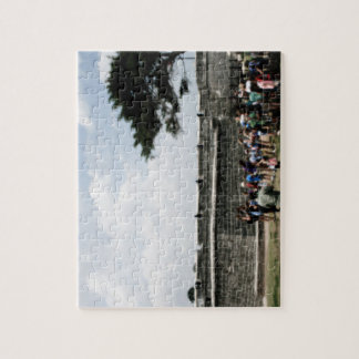 St. Augustine Fort Crowd Grainy Jigsaw Puzzle