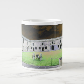 St  Augustine Fort I solarized Giant Coffee Mug