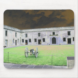 St  Augustine Fort I solarized Mouse Pad