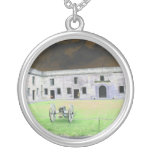 St  Augustine Fort I solarized Personalized Necklace