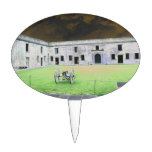 St  Augustine Fort I solarized Oval Cake Toppers